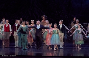 Artistic Director & Choreographer of 'A Midsummer Night's Dream,' William Whitener, takes a bow at the end of the performance